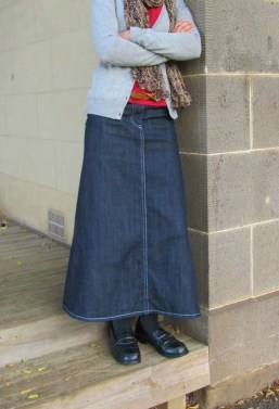 Fancy Winter Outfits Ideas Jean Skirts34