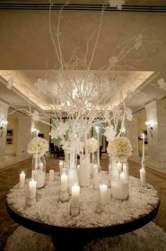 Classy Winter Wonderland Wedding Centerpieces Ideas21