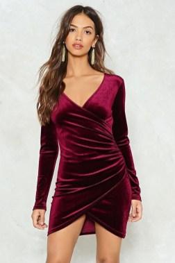 Cute Diy Wrap Mini Dress Ideas For Christmas Party34