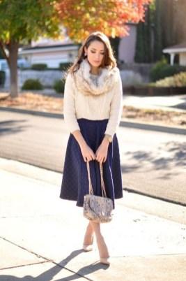 Elegant Midi Skirt Winter Ideas06