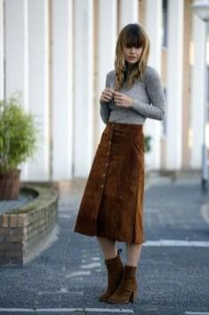 Elegant Midi Skirt Winter Ideas29