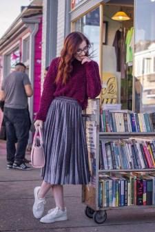 Elegant Midi Skirt Winter Ideas33