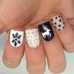 Outstanding Christmas Nail Art New 2017 Ideas20