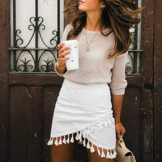 Affordable Winter Skirts Ideas With Tights16