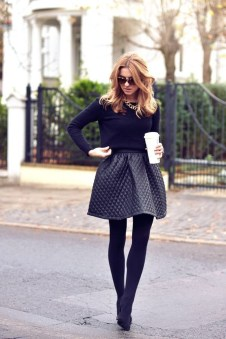 Affordable Winter Skirts Ideas With Tights22