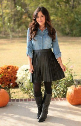 Affordable Winter Skirts Ideas With Tights34