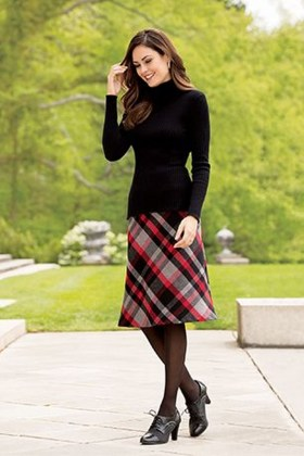 Affordable Winter Skirts Ideas With Tights35
