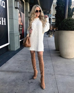Awesome Winter Dress Outfits Ideas With Boots25