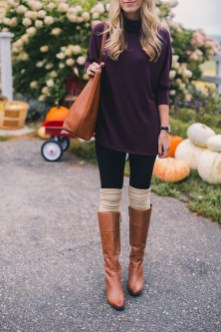 Incredible Winter Outfits Ideas With Leg Warmers24