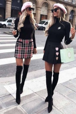 Stunning Winter Outfits Ideas With Skirts06