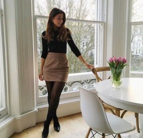 Stunning Winter Outfits Ideas With Skirts23