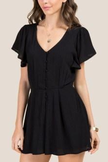 Adorable Black Romper Outfit Ideas05