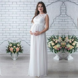 Gorgeous Maternity Wedding Outfits Ideas For Spring01