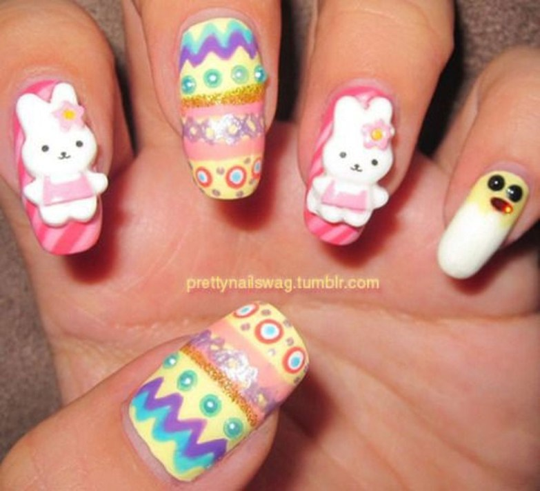 Modern Easter Nail Art Design Ideas01