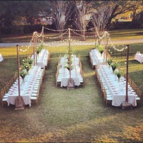 Pretty Backyard Reception Decoration Ideas46