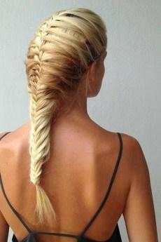 Stylish Mermaid Braid Hairstyles Ideas For Girls06