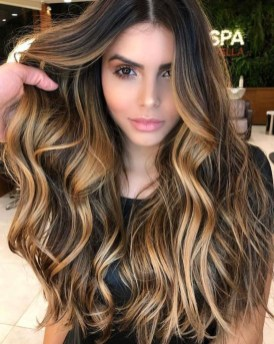 Elegant Dark Brown Hair Color Ideas With Highlights35