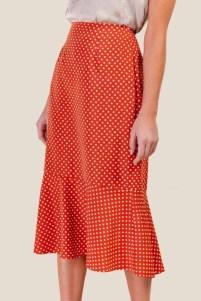 Delicate Polka Dot Maxi Skirt Ideas For Reunion28