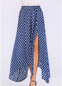 Delicate Polka Dot Maxi Skirt Ideas For Reunion30