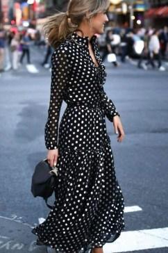 Delicate Polka Dot Maxi Skirt Ideas For Reunion36