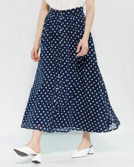 Delicate Polka Dot Maxi Skirt Ideas For Reunion42