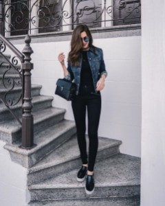 Fancy Work Outfits Ideas With Black Leggings To Copy Right Now04