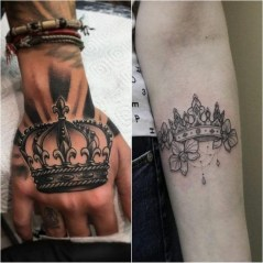 Comfy Crown Tattoos Ideas Youll Need To See08