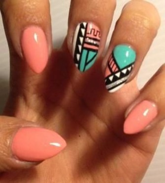 Cozy Aztec Nail Art Designs Ideas You Will Love To Copy02