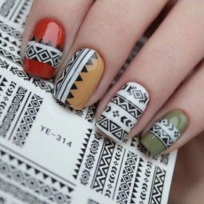 Cozy Aztec Nail Art Designs Ideas You Will Love To Copy36