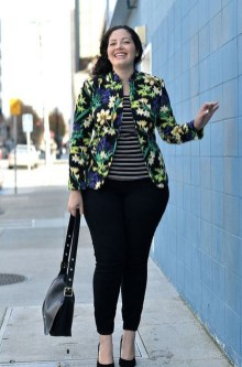 Cozy Combinations Ideas With Floral Blazers You Must Try03