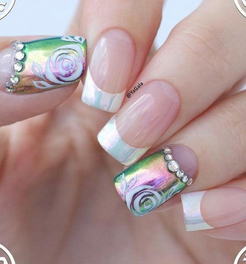 Creative Half Moon Nail Art Designs Ideas To Try01