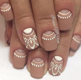 Creative Half Moon Nail Art Designs Ideas To Try30