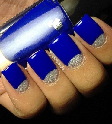 Creative Half Moon Nail Art Designs Ideas To Try48
