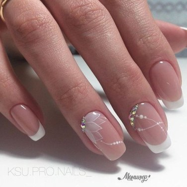 Cute French Manicure Designs Ideas To Try This Season02