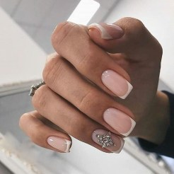 Cute French Manicure Designs Ideas To Try This Season29