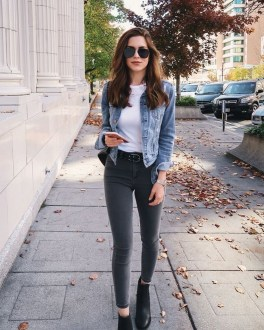 Flawless Outfit Ideas How To Wear Denim Jacket18