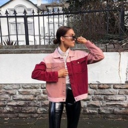 Flawless Outfit Ideas How To Wear Denim Jacket21