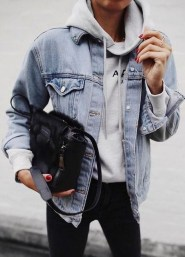 Flawless Outfit Ideas How To Wear Denim Jacket23