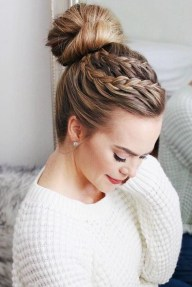 Unique Bun Hairstyles Ideas That Youll Love44