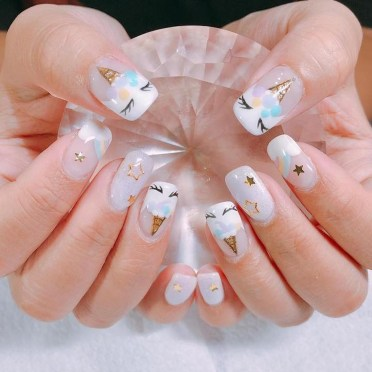 Unusual Watercolor Nail Art Ideas That Looks Cool30