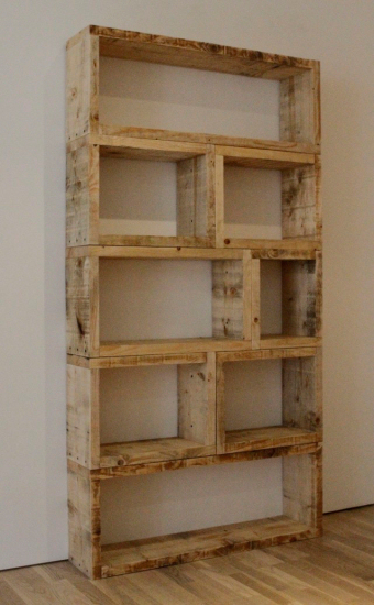types of wall shelves and shelving units made from reclaimed wood