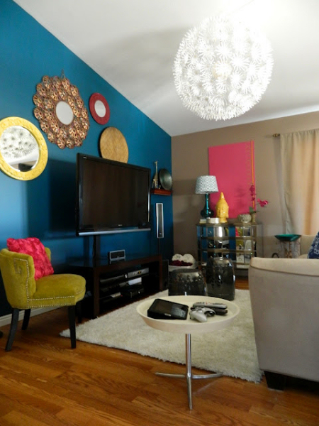 Bold And Colorful Living Room Makeover Addicted 2