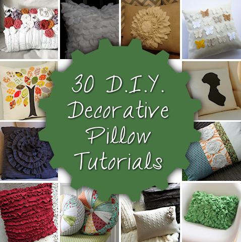 30 decorative diy pillow tutorials
