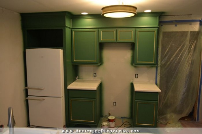 Refrigerator Wall Cabinets Finished Addicted 2 Decorating 174