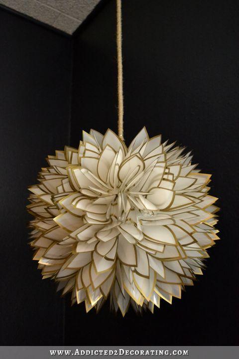 Faux Capiz Shell Flower Pendant Light 3