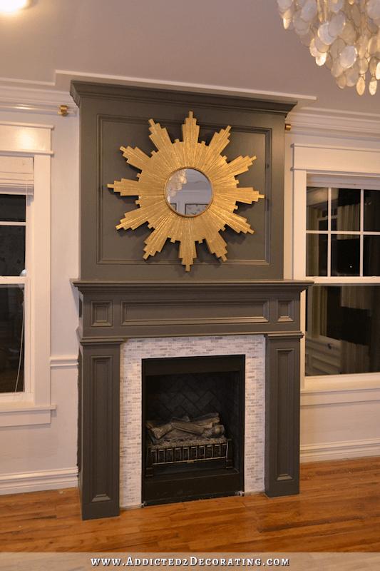 Living Room Progress New Fireplace Color Amp Chandelier
