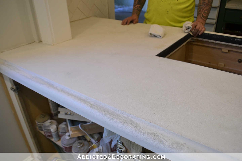 Refinishing My Concrete Kitchen Countertops Part 1