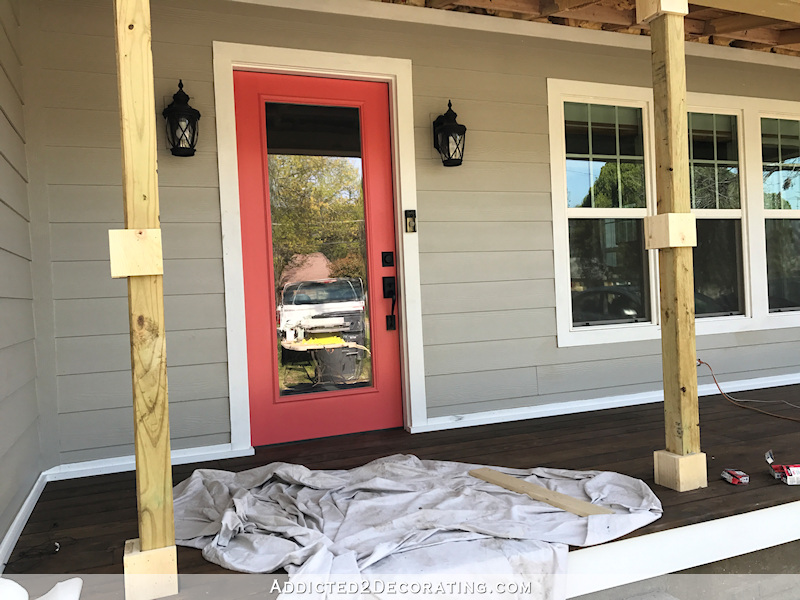 how to wrap front porch posts turn