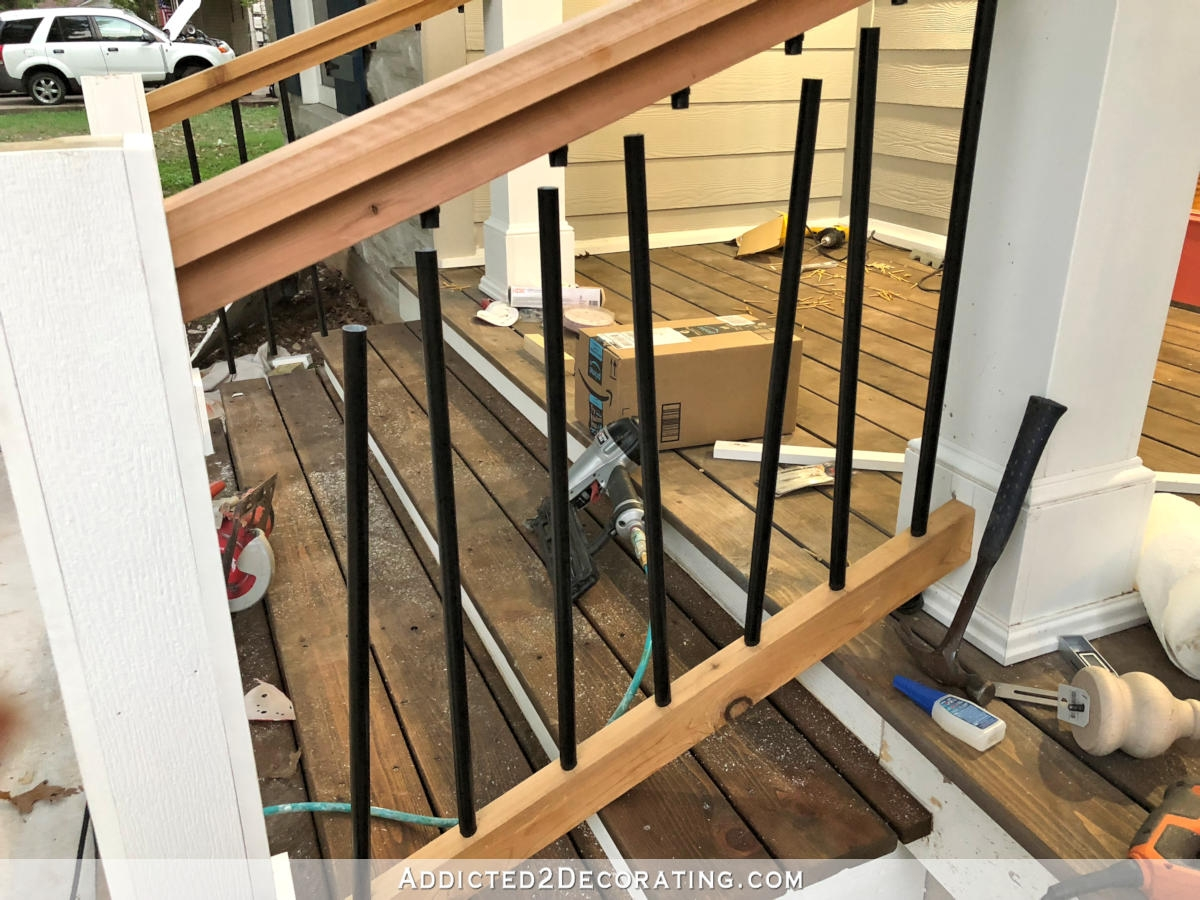 How To Build Porch Step Railing Addicted 2 Decorating®   Handrails For Porch Steps   Deck   Simple   Railing   Temporary   Interior