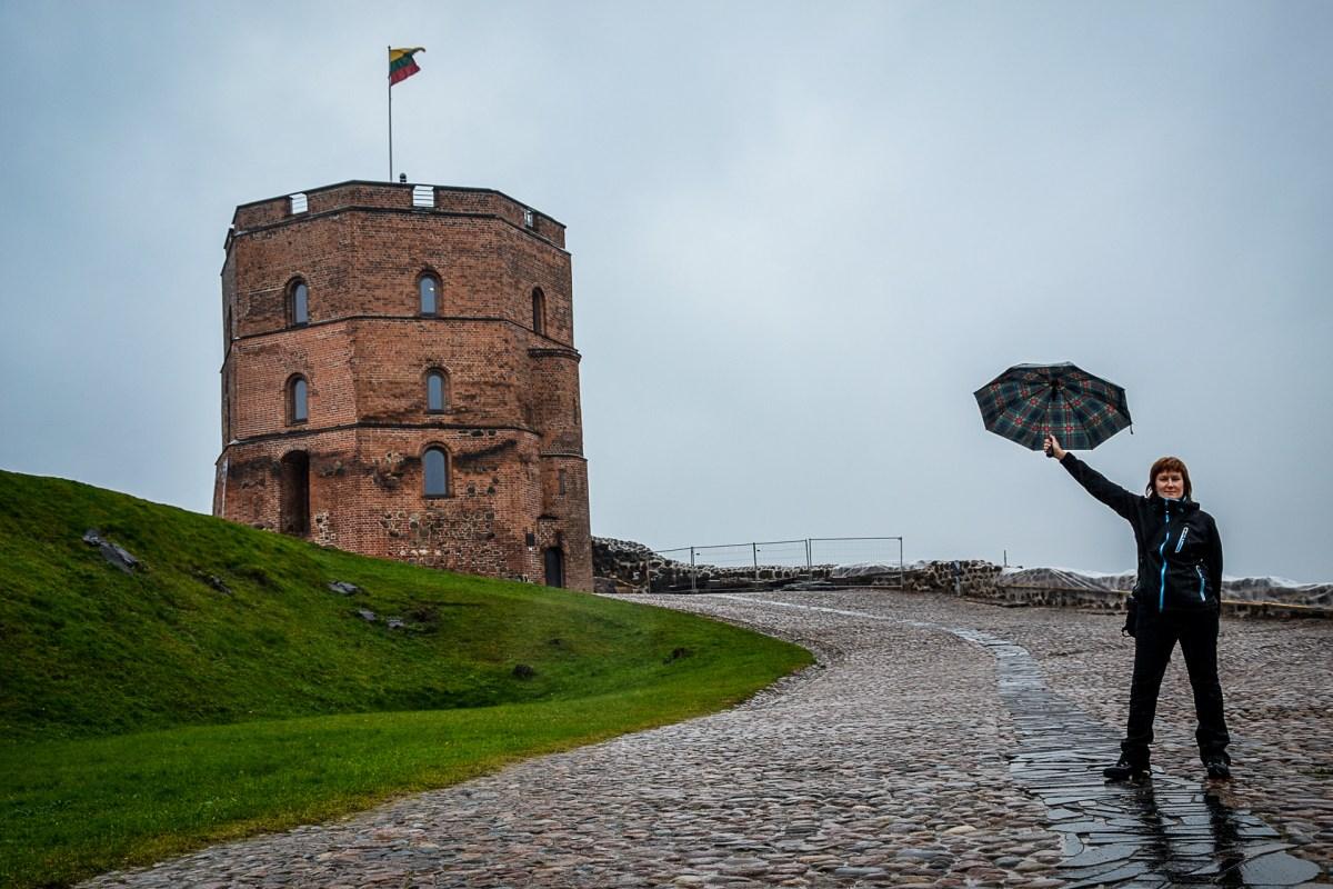 wieża Giedymina na wzgórzu Giedymina